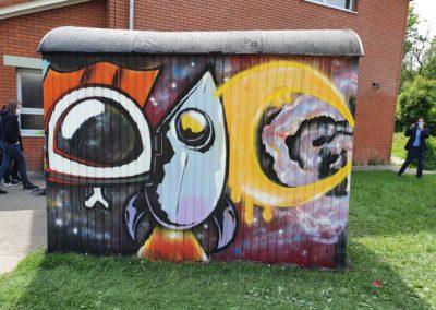 Graffiti Kunst an der IGS Horhausen